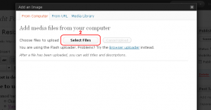 Select images to upload